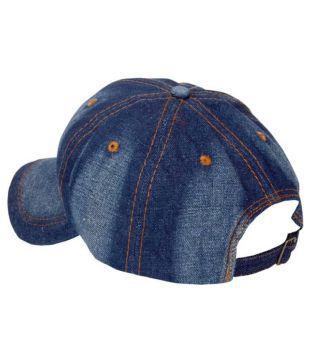 friendskart self design unique design in denim baseball cap for boys