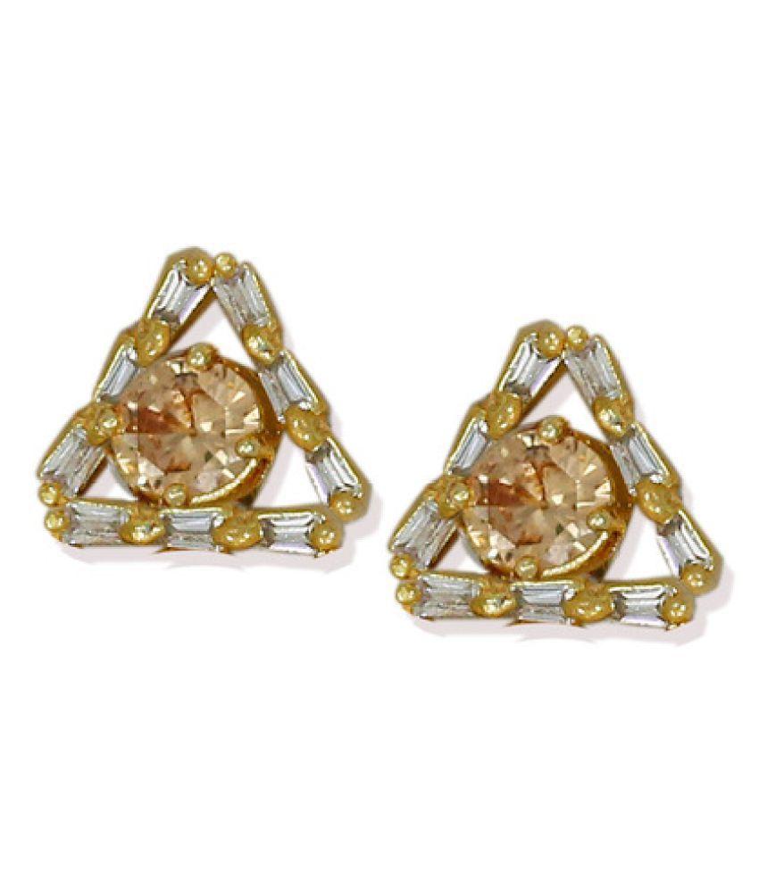 Zaveri Pearls Delicate Triangular Stud Earring - ZPFK6188