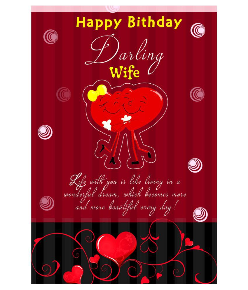 Happy Birthday Darling Wife Poster: Buy Online At Best