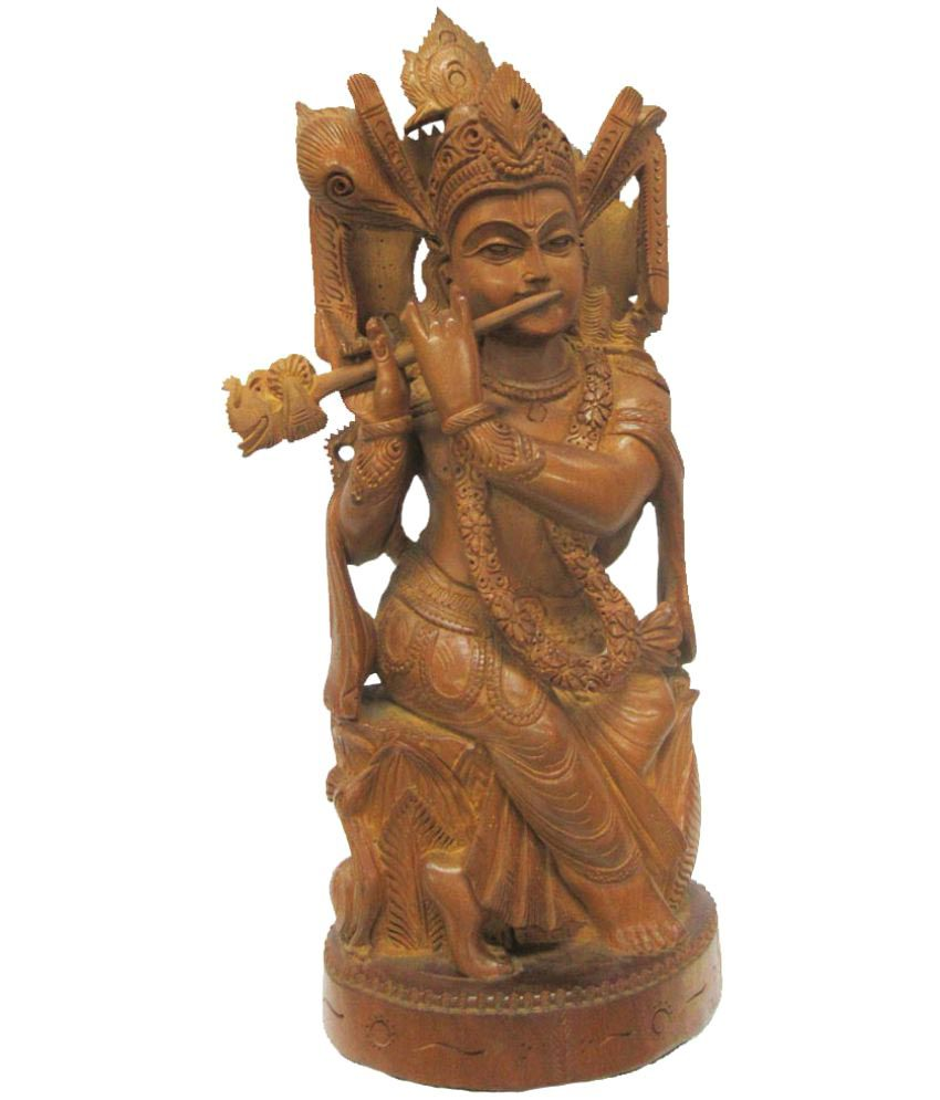 Indian Arts Museum Krishna Wood Idol