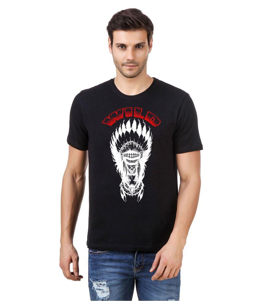 Desi Swag Black Round T-Shirt