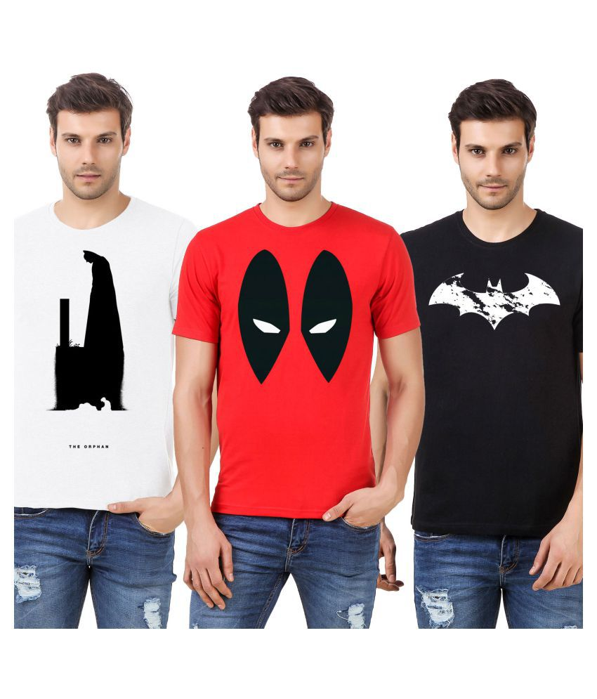 Desi Swag Multi Round T-Shirt Pack of 3
