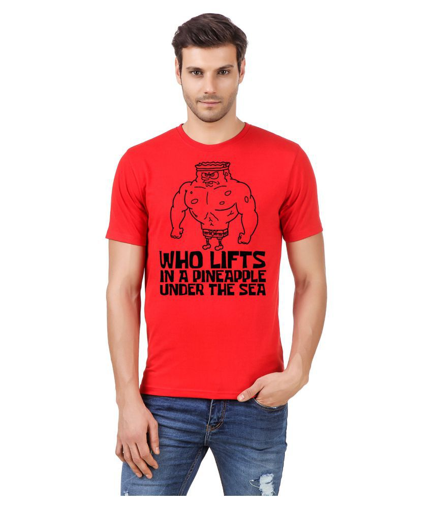 Desi Swag Red Round T-Shirt