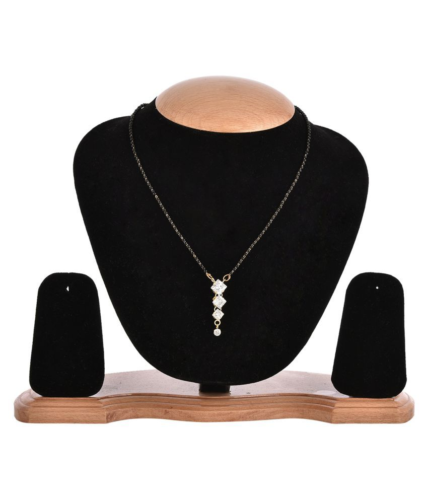Zeneme Sparkling Mangalsutra studded with Cubic Zirconia