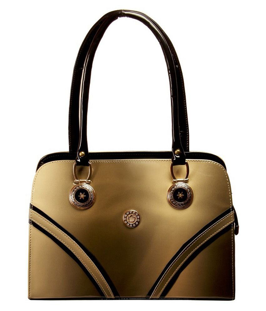 Louise Belgium Beige P.U. Shoulder Bag