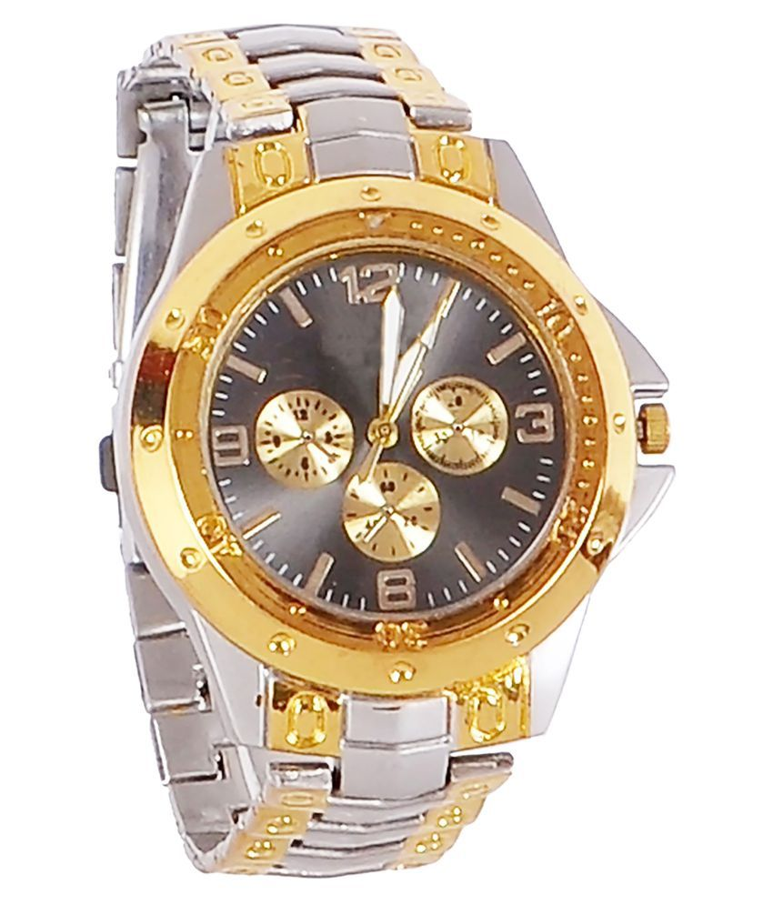 New Designer Silver Gold Dial Watch For Boys Price in ...