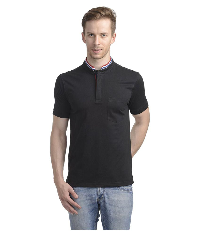 Wrig Black Henley T-Shirt