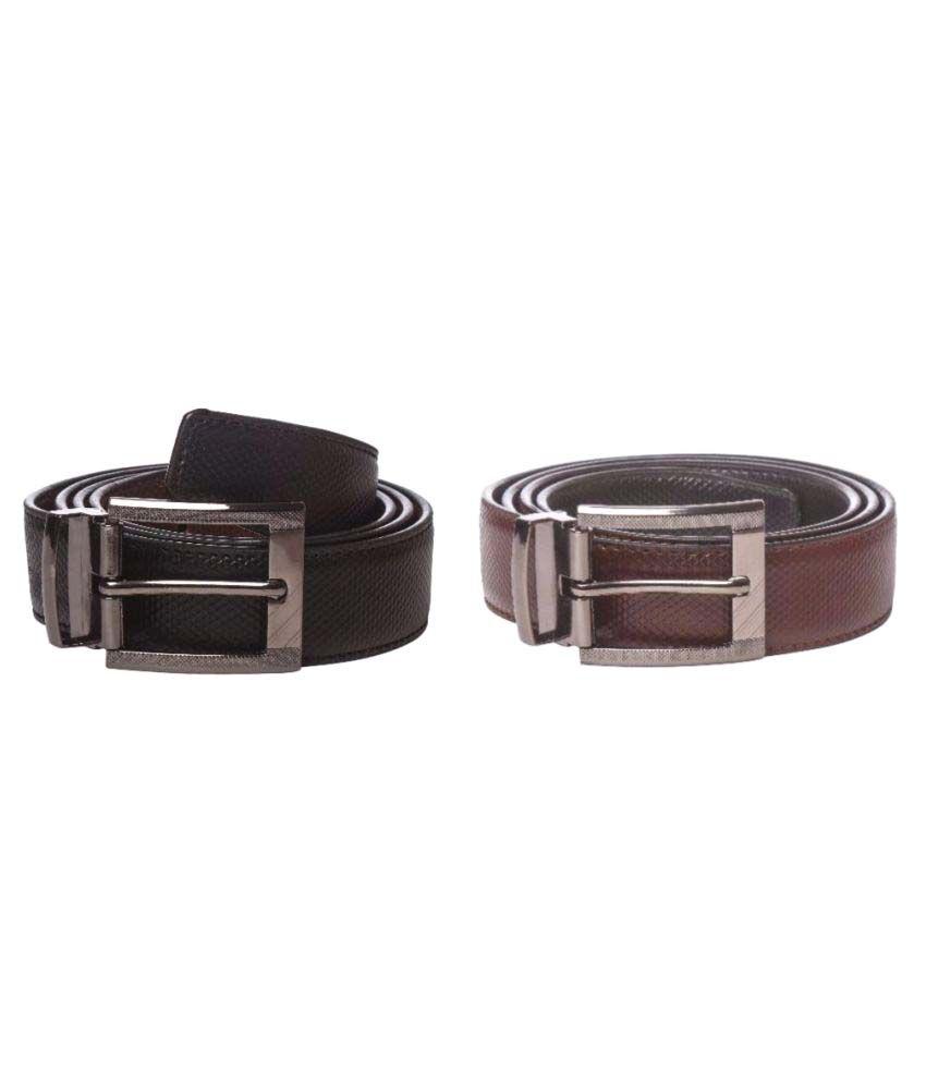 Bold Black Leather Formal Belts
