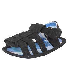 abdc kids Infant Black Baby boy Sandals - Length-12 Cm Age - 3-6 Months