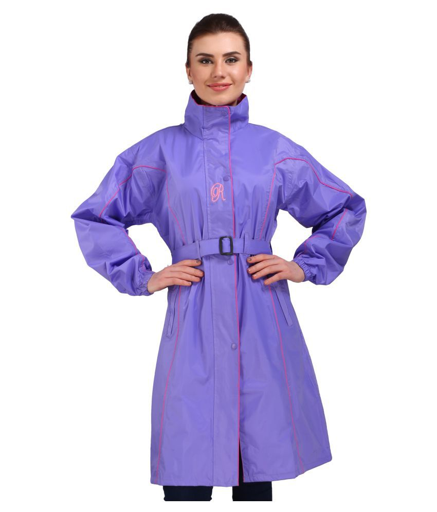 REAL Nylon Long Raincoat