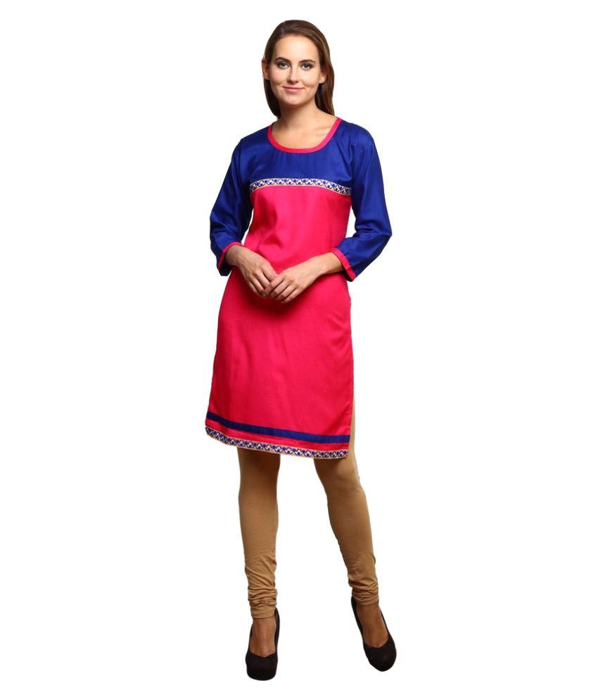 Sai Enterprizes Multicoloured Cotton Straight Kurti