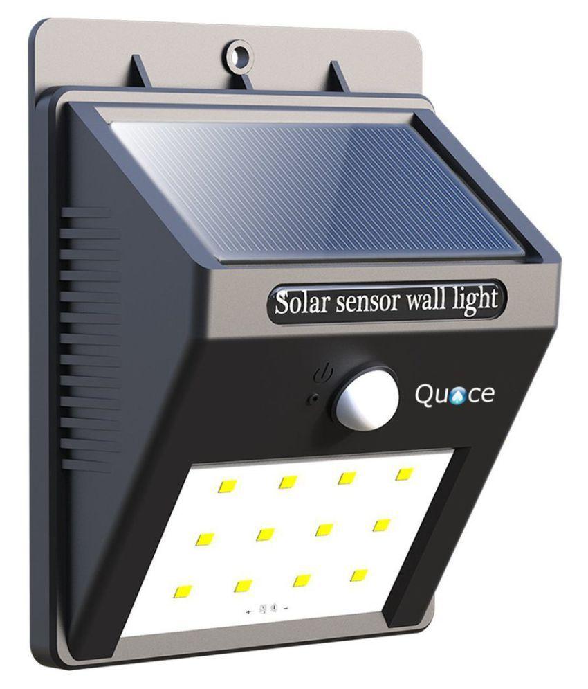 quace weather resistant 12 led motion sensor solar light. Black Bedroom Furniture Sets. Home Design Ideas