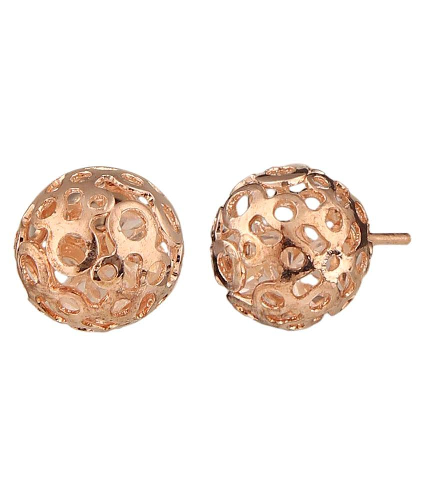 Archi Collection Trendy Rose Gold Plated Stylish Fancy Party Wear Tops Stud Earrings Jewellery for Girls and Women