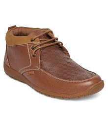 Duke Lifestyle Tan Casual Shoes