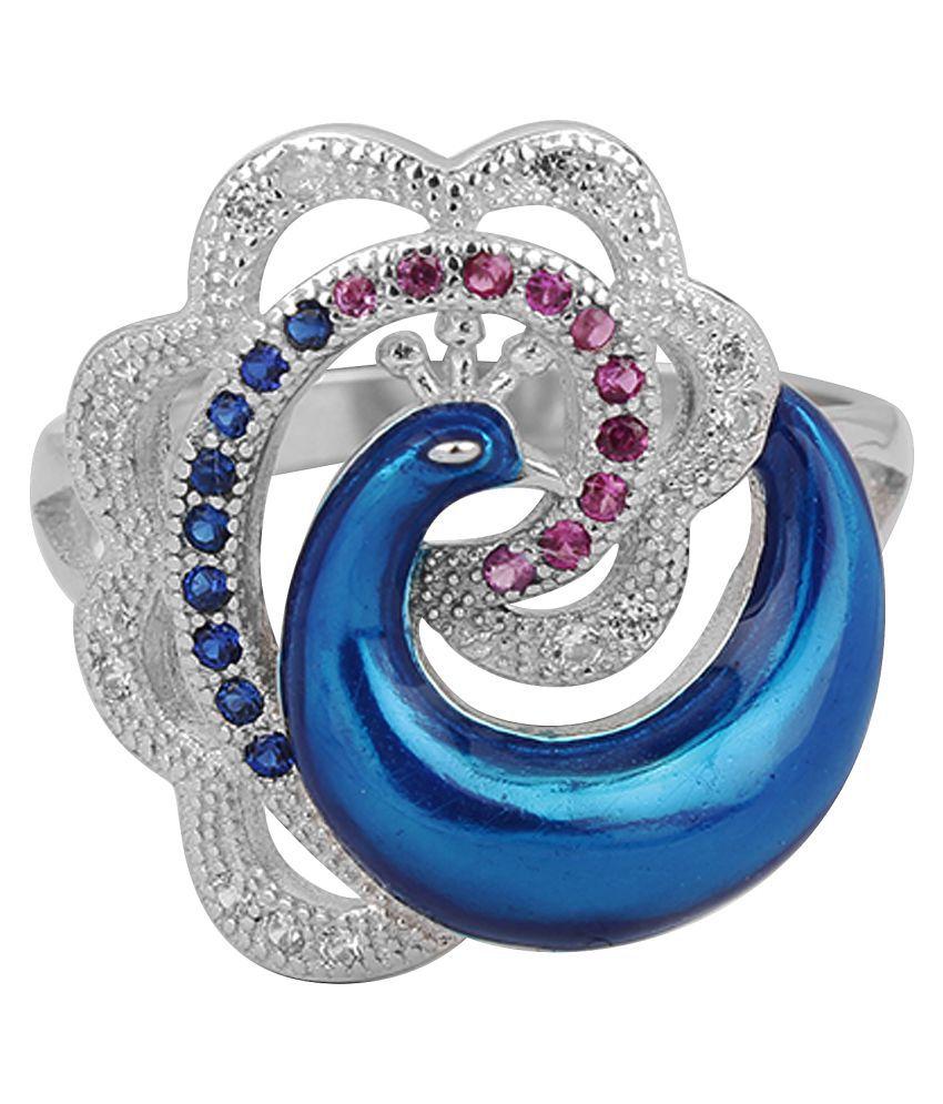 Jewel99 92.5 Silver Swarovski Ring