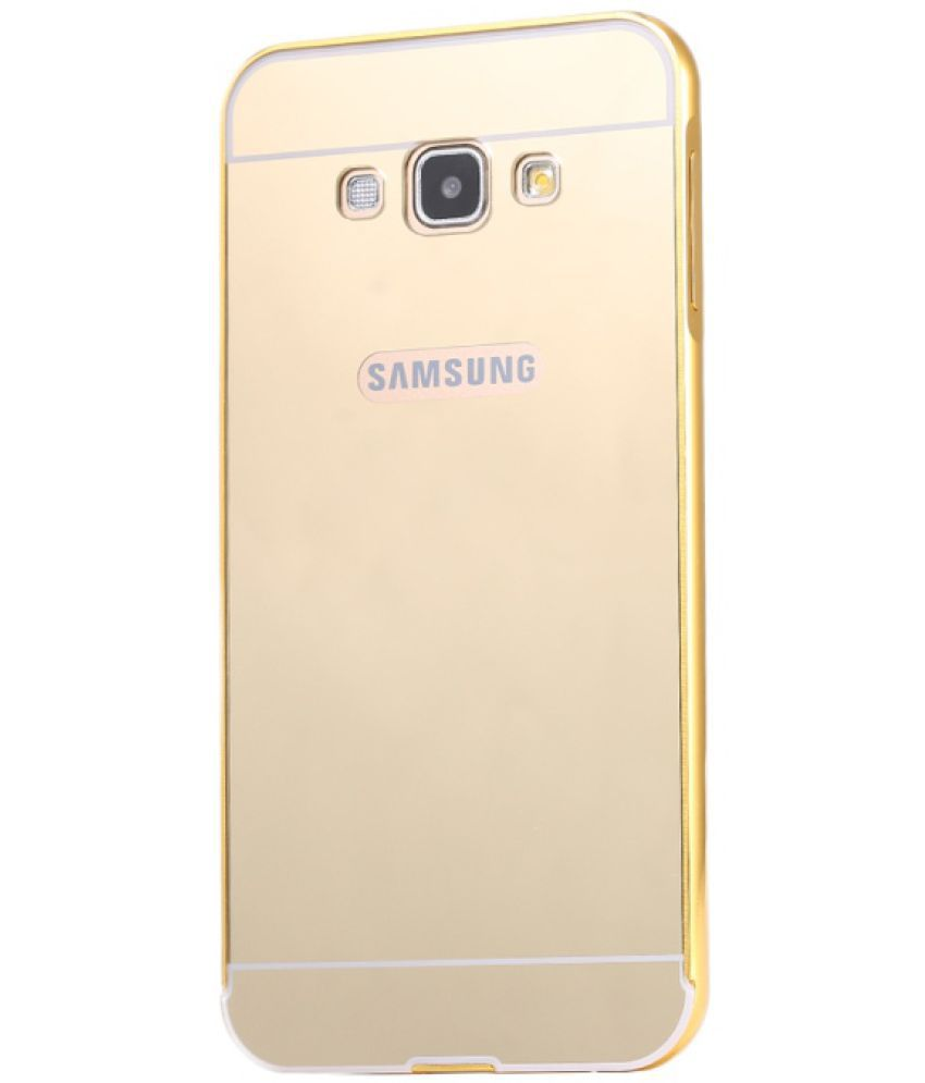 Samsung Galaxy A8 Mirror Back Covers Bright traders - Golden