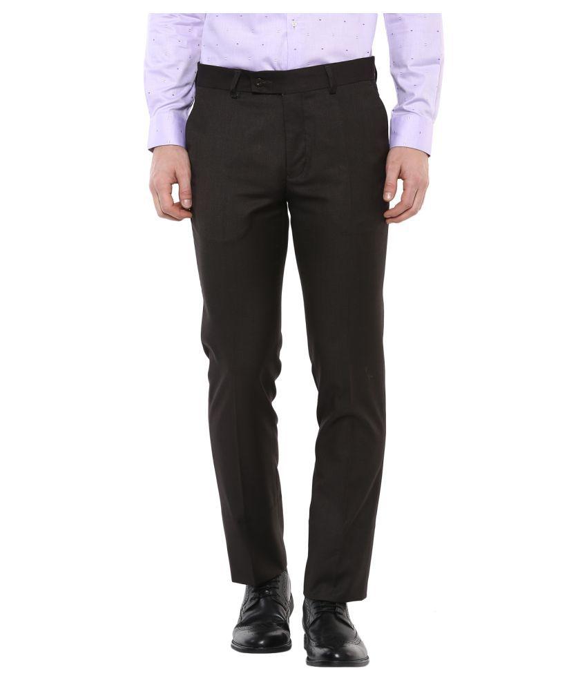 Turtle Black Slim -Fit Flat Trousers