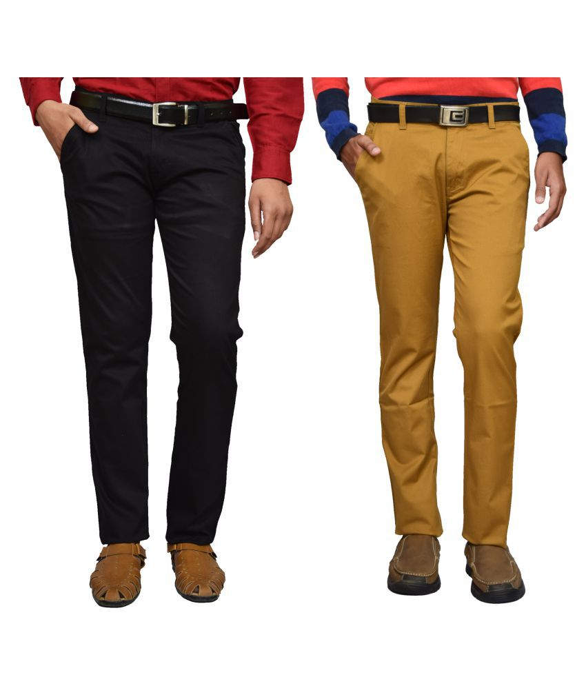 American Noti Multi Slim -Fit Flat Chinos