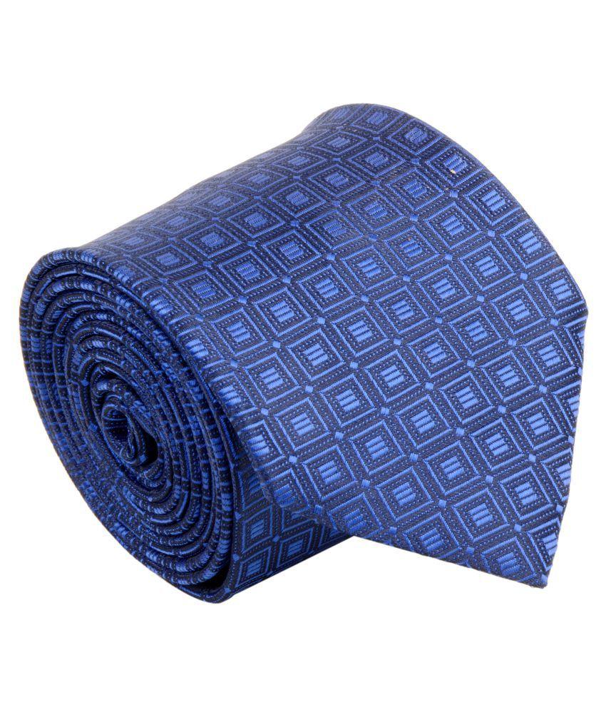 Cazzano Blue Checks Micro Fiber Necktie