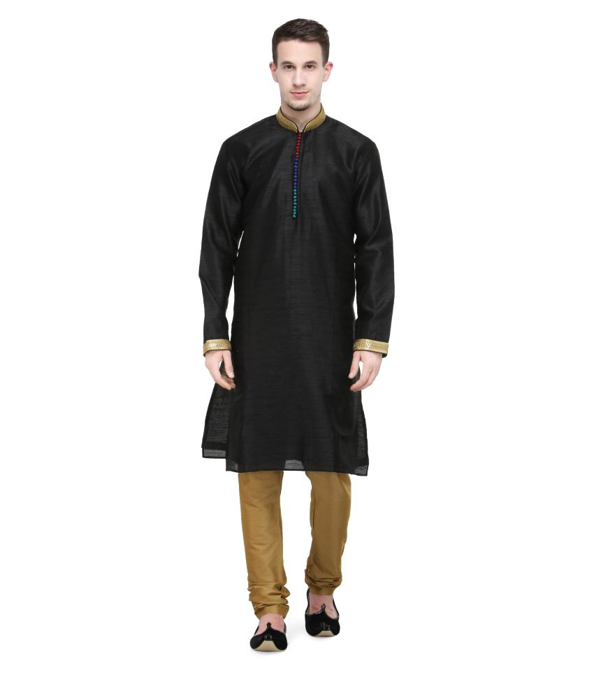 RG Designers Multi Silk Blend Kurta Pyjama Set
