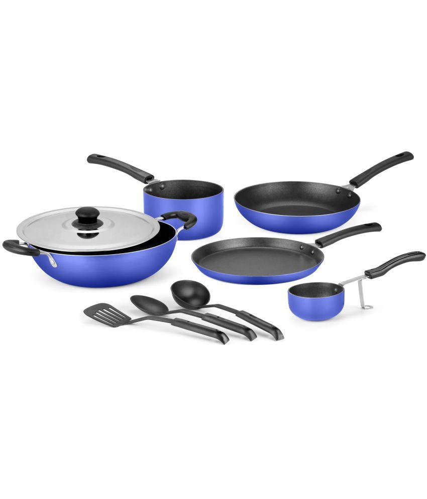 Ideale Non Stick Cookware Set 9 Pc - Ocean Blue
