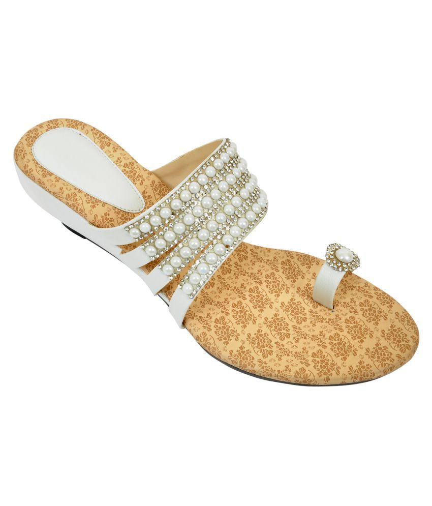 Altek White Wedges Heels