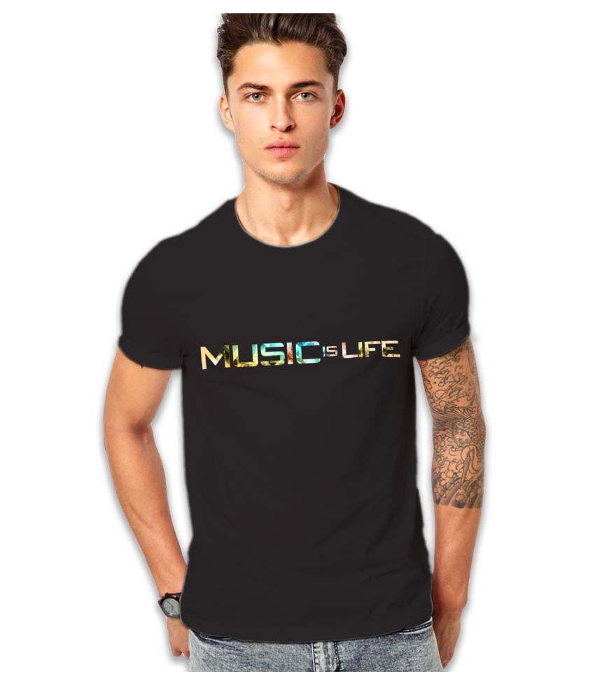Edgemeter Black Round T-Shirt