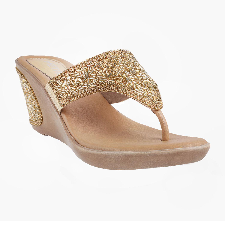 METRO Gold Wedges Heels