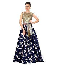 Ethnic Diwa Multicoloured Taffeta Anarkali Semi-Stitched Suit