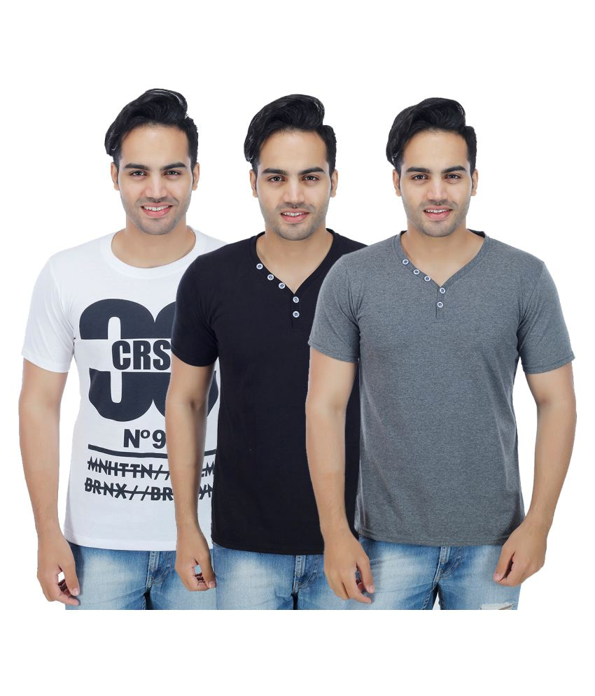 Christy's Collection Multi Round T-Shirt Pack of 3