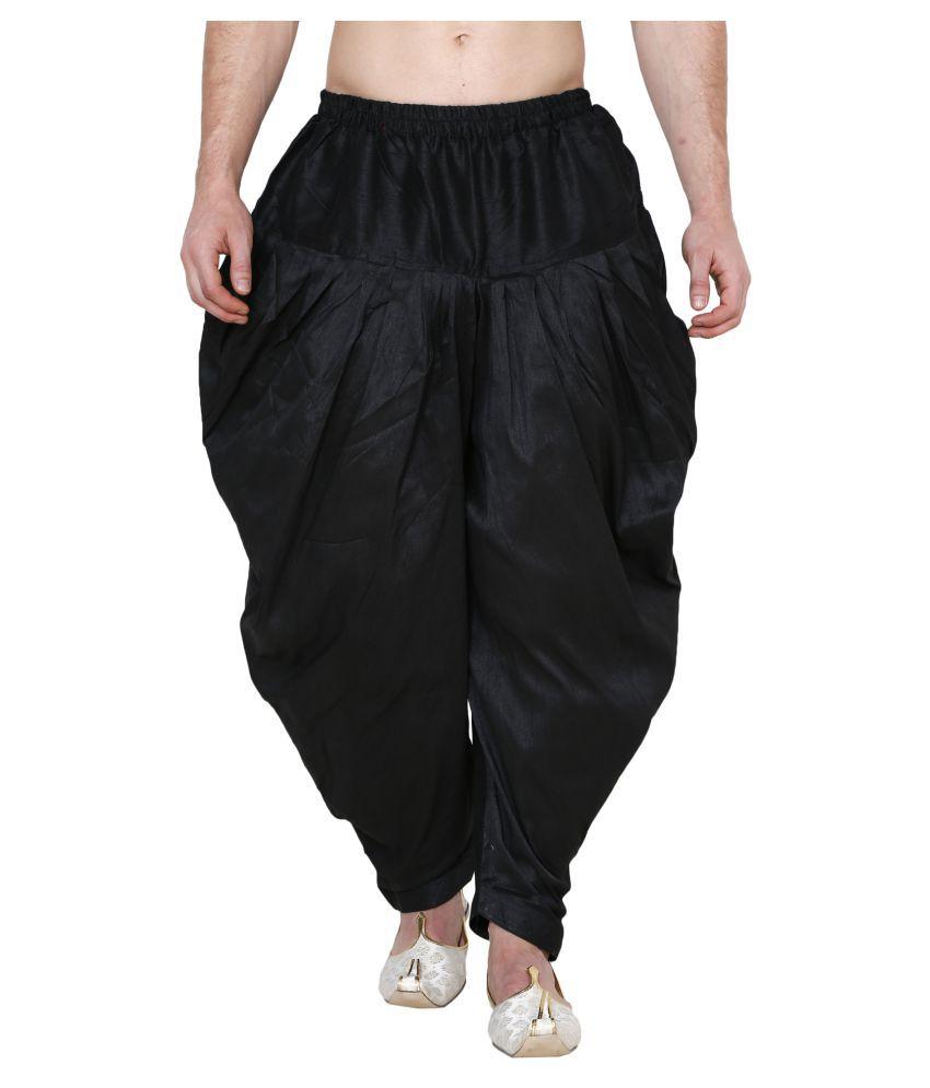Amazing India Black Polyester Blend Salwaar