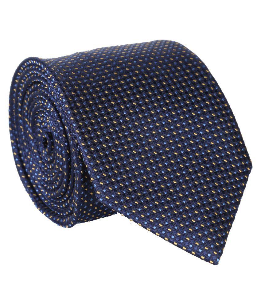 Bombay High Blue Printed Silk Necktie