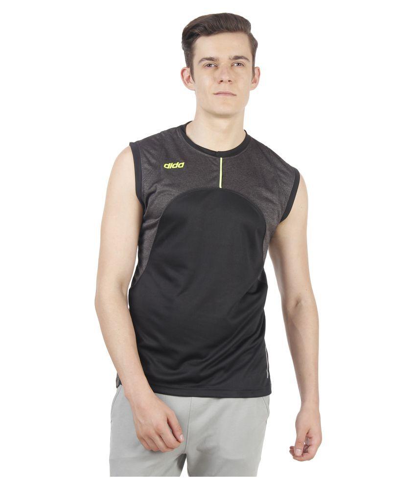 Dida Sportswear Grey Polyester T-Shirt