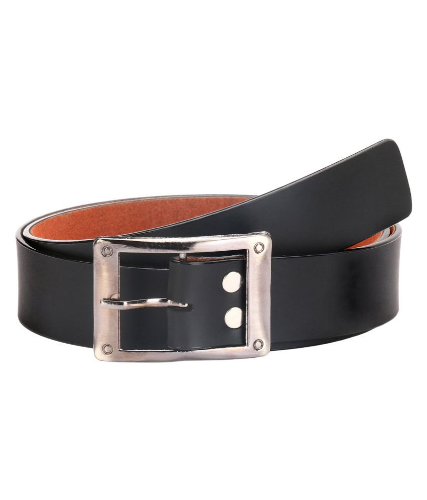 Lewyr Black Leather Casual Belts