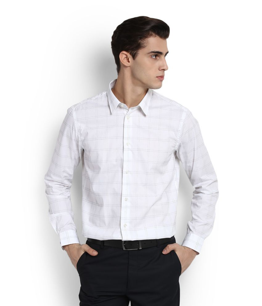 10de90bb9f7 Arrow New York White Formal Slim Fit Shirt available at SnapDeal for Rs.624