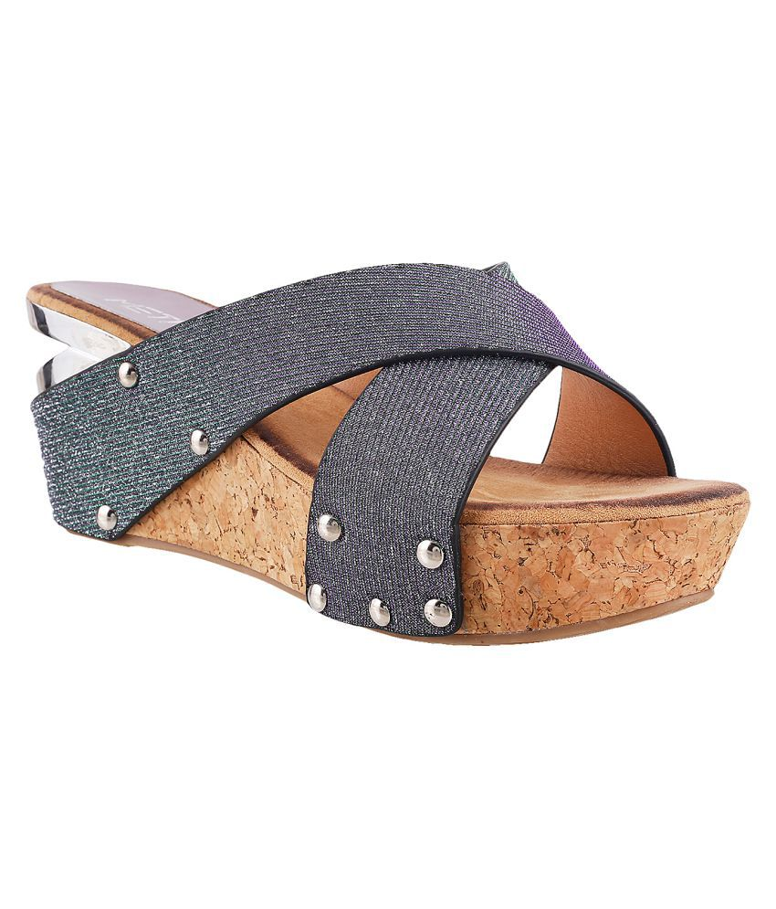 METRO GRAY Wedges Heels