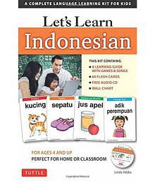 Lets Learn Indonesian Kit A Complete Language Learning Kit for Kids 64 Flashcards, Audio CD, Games Songs, Learning Guid
