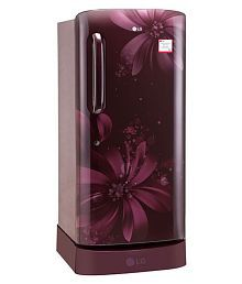 LG 215 Ltr 3 Star GL-D221ASAW Single Door Refrigerator - Maroon