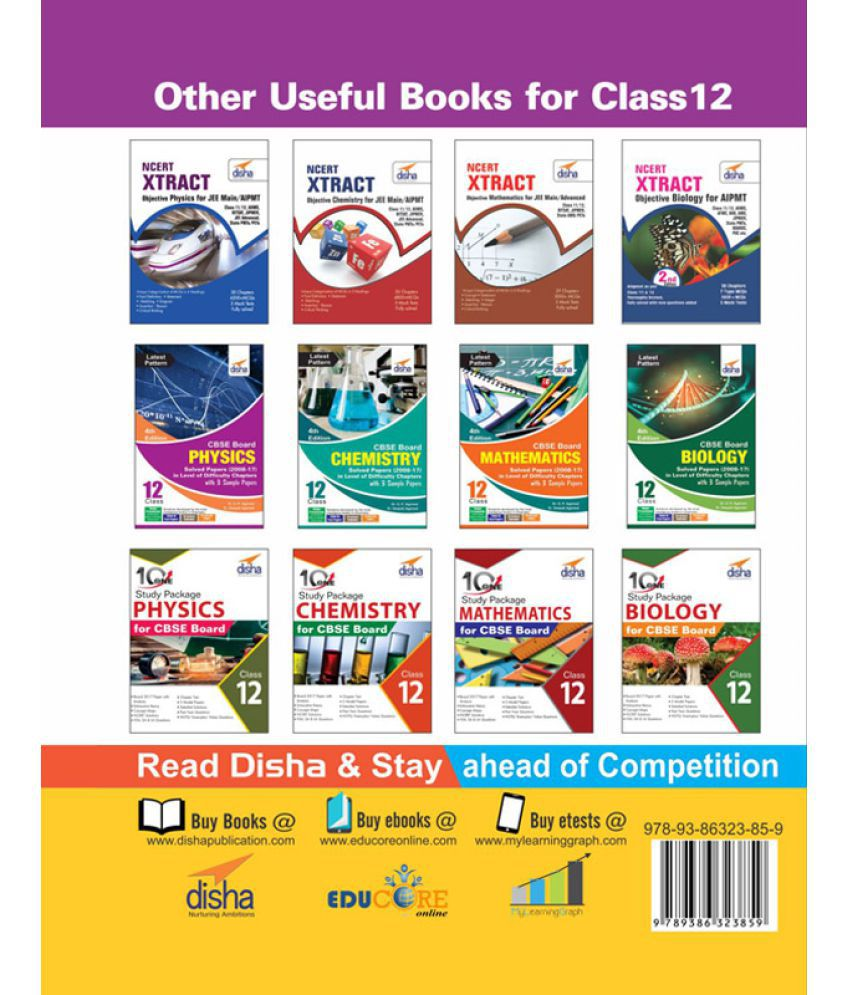 Chapter-wise NCERT + Exemplar + Past 10 Years Solutions for CBSE Class 12  Chemistry 4th Edition