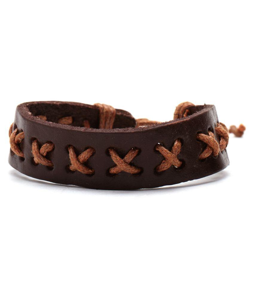 Chkokko Designer Rope Shape Brown Color Bracelet for Men