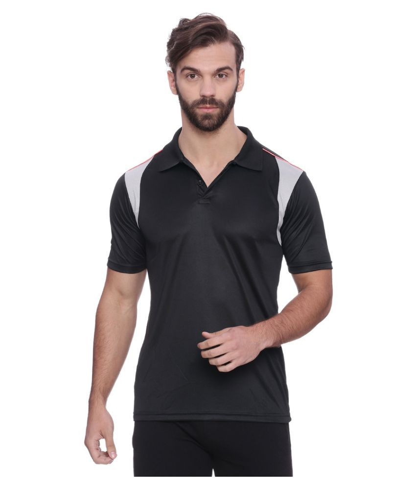 Campus Sutra Black Polyester Jersey Single Pack