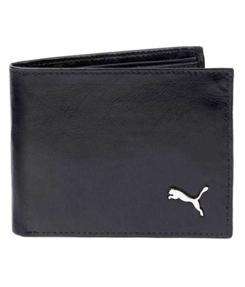 Puma PU Black Fashion Regular Wallet