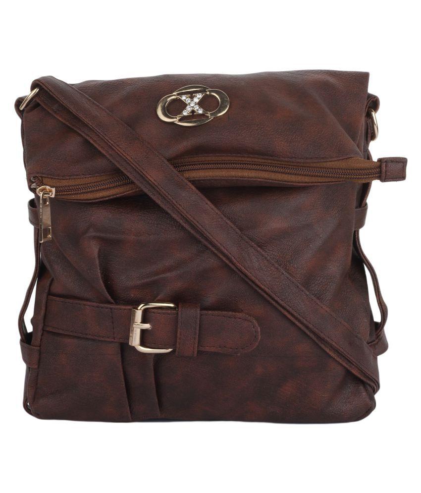 Craveforit Chocolate Brown P.U. Sling Bag