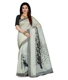 Ishin Off White Bhagalpuri Silk Saree