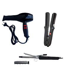 Black Cat Straightener, Curler with Chaoba Hair Dryer ( Multi color )