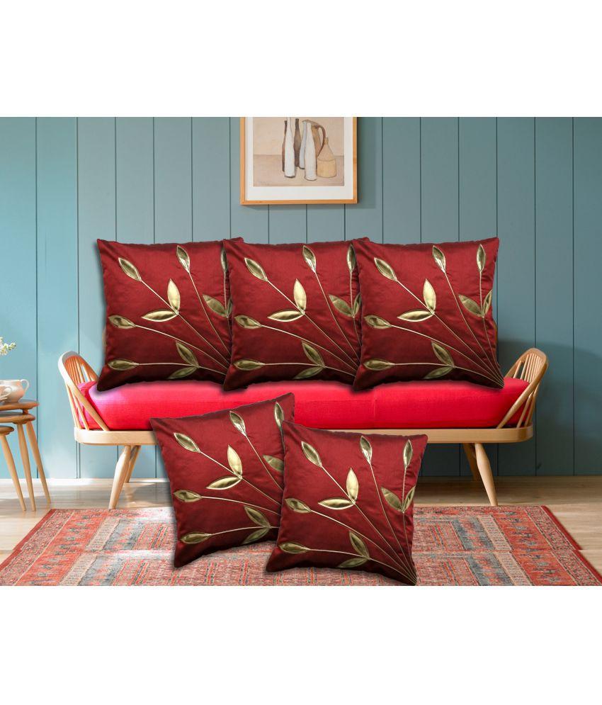 Stuff N' Fluff Set of 5 Polyester Cushion Covers 40X40 cm (16X16)