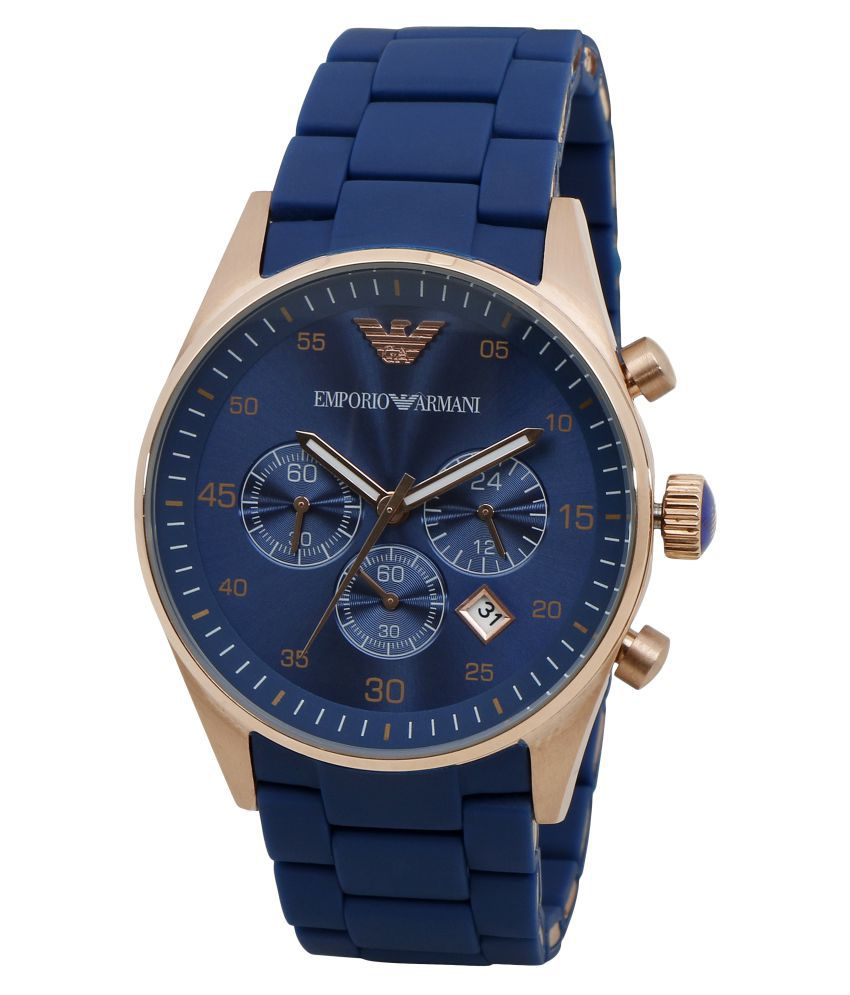 b7c33da248 Emporio Armani Royal Blue Chronograph Watch