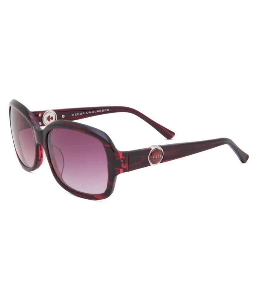 Keeda Purple Oversized Sunglasses ( WO_02_C9 )