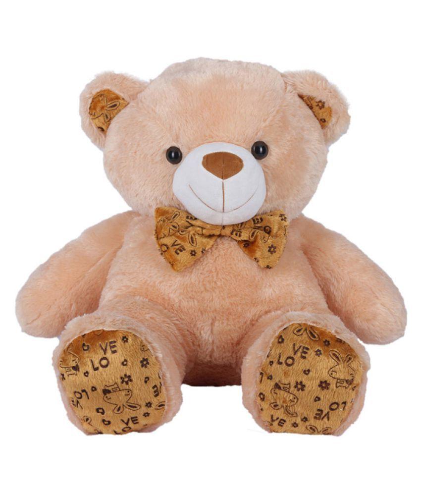Ultra Polka Teddy Bear Soft Toy Camel Brown 24 Inches