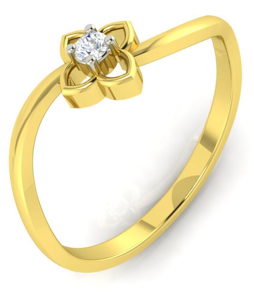 Avsar 14k Gold Cubic zirconia Ring